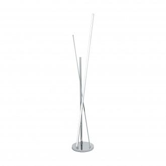 EGLO 96324 | Parri Eglo álló lámpa 131,5cm taposókapcsoló 1x LED 1200lm + 1x LED 1300lm 3000K króm, fehér