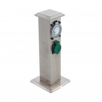 EGLO 96351 | Park_T Eglo konnektoroszlop kiegészítő időkapcsoló dugaljjal ellátott IP44 nemesacél, rozsdamentes acél, zöld