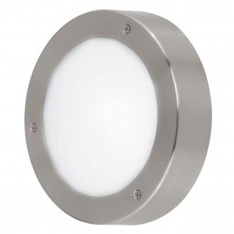EGLO 96365 | Vento-LED Eglo fali, mennyezeti lámpa kerek 1x LED 410lm 3000K IP44 nemesacél, rozsdamentes acél, fehér