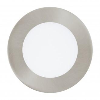 EGLO 96406 | Fueva-1 Eglo beépíthető LED panel kerek szabályozható fényerő Ø120mm 1x LED 600lm 3000K matt nikkel, fehér
