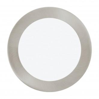 EGLO 96407 | Fueva-1 Eglo beépíthető LED panel kerek szabályozható fényerő Ø170mm 1x LED 1200lm 3000K matt nikkel, fehér