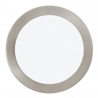EGLO 96408 | Fueva-1 Eglo beépíthető LED panel kerek szabályozható fényerő Ø225mm 1x LED 1600lm 3000K matt nikkel, fehér