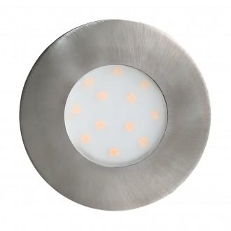 EGLO 96415 | Pineda-IP Eglo beépíthető lámpa Ø78mm 1x LED 500lm 3000K IP44/20 matt nikkel, opál