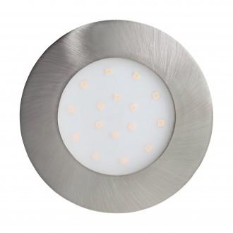 EGLO 96417 | Pineda_IP Eglo beépíthető lámpa Ø102mm 1x LED 1000lm 3000K IP44/20 matt nikkel