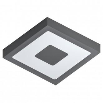 EGLO 96489 | Iphias Eglo fali, mennyezeti lámpa téglatest 1x LED 1700lm 3000K IP44 antracit, fehér