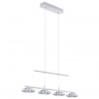 EGLO 96511 | Tarugo Eglo függeszték lámpa ellensúlyos, állítható magasság, szabályozható fényerő 4x LED 1800lm 3000K króm, fehér