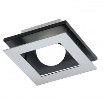 EGLO 96531 | Bellamonte-1 Eglo fali, mennyezeti lámpa szabályozható fényerő 1x LED 510lm 3000K csiszolt alumínium, fekete, fehér