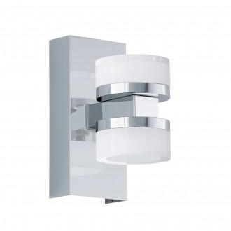 EGLO 96541 | Romendo Eglo falikar lámpa szabályozható fényerő 2x LED 1140lm 3000K IP44 króm, szatén