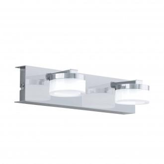 EGLO 96542 | Romendo Eglo falikar lámpa szabályozható fényerő 2x LED 1140lm 3000K IP44 króm, szatén