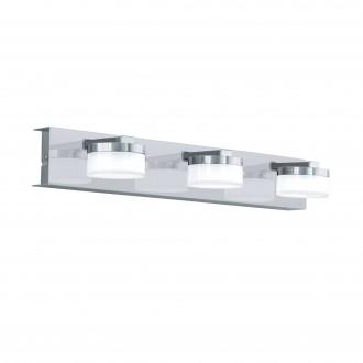 EGLO 96543 | Romendo Eglo falikar lámpa szabályozható fényerő 3x LED 1710lm 3000K IP44 króm, szatén