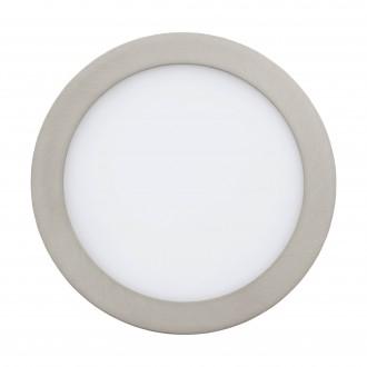 EGLO 96676 | EGLO-Connect-Fueva Eglo beépíthető okos világítás kerek szabályozható fényerő, állítható színhőmérséklet, színváltós Ø225mm 1x LED 2000lm 2700 <-> 6500K matt nikkel, fehér