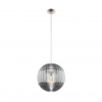 EGLO 96747   Olmero Eglo függeszték lámpa 1x E27 matt nikkel, szürke, fehér