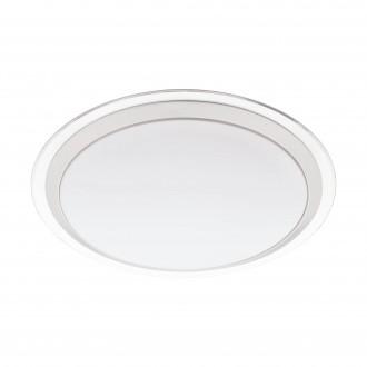 EGLO 96818 | EGLO-Connect-Competa Eglo fali, mennyezeti okos világítás kerek szabályozható fényerő, színváltós 1x LED 2100lm 2700 <-> 6500K fehér, ezüst, áttetsző