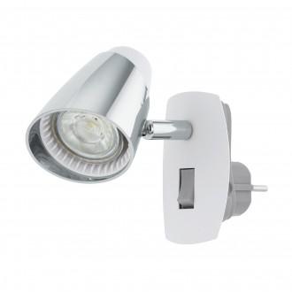 EGLO 96846 | Moncalvio Eglo konnektorlámpa spot kapcsoló elforgatható alkatrészek 1x GU10 240lm 3000K fehér, króm