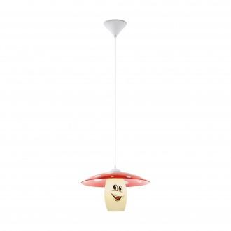 EGLO 96879 | Funji Eglo függeszték lámpa 1x E27 fehér, piros