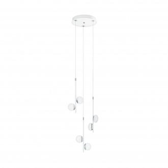 EGLO 96931   Olindra Eglo függeszték lámpa szabályozható fényerő 6x LED 1500lm 3000K króm, szatén, fehér
