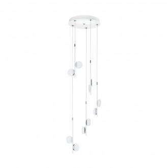 EGLO 96932   Olindra Eglo függeszték lámpa szabályozható fényerő 10x LED 2500lm 3000K króm, szatén, fehér