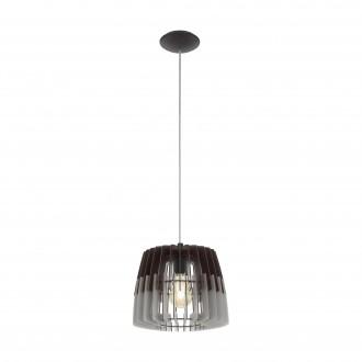 EGLO 96955   Artana Eglo függeszték lámpa 1x E27 matt nikkel, szürke, fekete