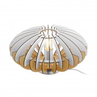 EGLO 96965 | Sotos Eglo asztali lámpa 19cm vezeték kapcsoló 1x E27 matt nikkel, barna, fehér
