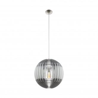 EGLO 96973   Olmero Eglo függeszték lámpa 1x E27 matt nikkel, szürke, fehér