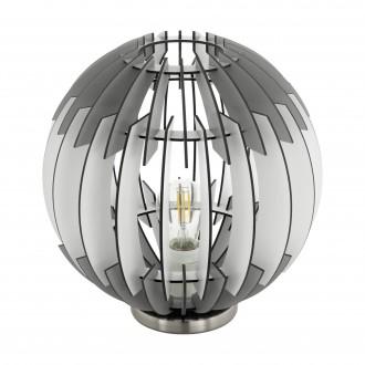 EGLO 96975 | Olmero Eglo asztali lámpa 31,5cm vezeték kapcsoló 1x E27 matt nikkel, szürke, fehér