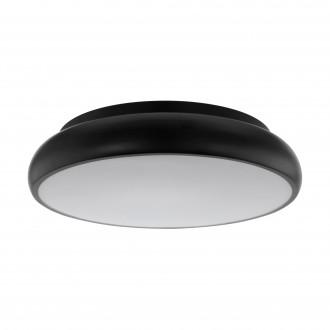 EGLO 96996 | EGLO-Connect-Moneva Eglo mennyezeti okos világítás kerek szabályozható fényerő, színváltós 1x LED 3400lm 2700 <-> 6500K fekete, fehér
