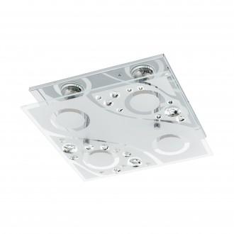 EGLO 96999 | Aquila Eglo fali, mennyezeti lámpa 4x GU10 960lm 3000K króm, áttetsző, fehér