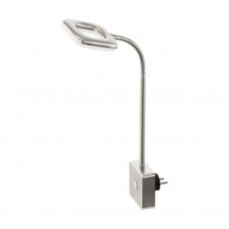 EGLO 97015 | Litago Eglo konnektorlámpa spot érintőkapcsoló flexibilis 1x LED 350lm 3000K matt nikkel, fehér