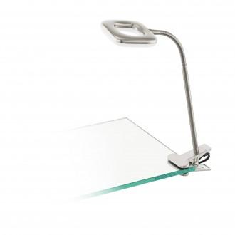 EGLO 97016   Litago Eglo csiptetős lámpa vezeték kapcsoló flexibilis 1x LED 350lm 3000K matt nikkel, fehér