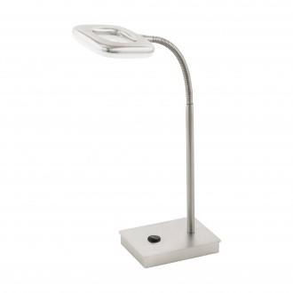 EGLO 97017 | Litago Eglo asztali lámpa 37cm érintőkapcsoló flexibilis 1x LED 350lm 3000K matt nikkel, fehér