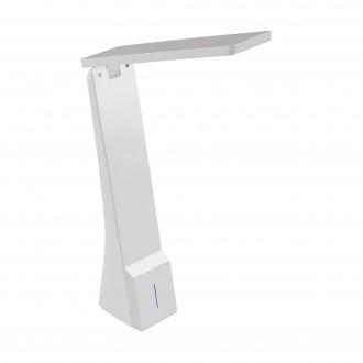 EGLO 97044   La-Seca Eglo asztali lámpa 26cm fényerőszabályzós érintőkapcsoló szabályozható fényerő, állítható színhőmérséklet, elforgatható alkatrészek, USB csatlakozó 1x LED 170lm 3000 <-> 5000K fehér