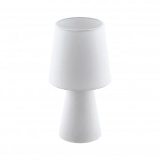 EGLO 97121 | Carpara Eglo asztali lámpa 34cm vezeték kapcsoló 2x E14 fehér