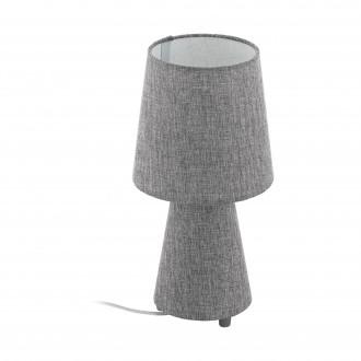 EGLO 97122 | Carpara Eglo asztali lámpa 34cm vezeték kapcsoló 2x E14 szürke