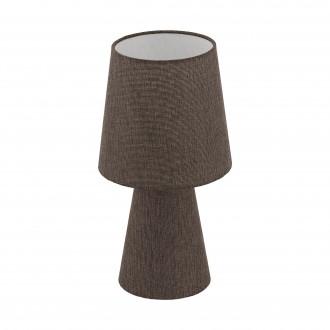 EGLO 97123 | Carpara Eglo asztali lámpa 34cm vezeték kapcsoló 2x E14 barna
