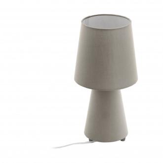 EGLO 97124 | Carpara Eglo asztali lámpa 34cm vezeték kapcsoló 2x E14 taupe