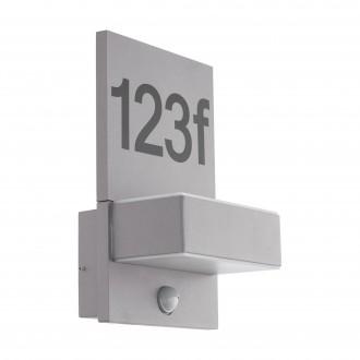 EGLO 97127 | Ardiano Eglo fali lámpa mozgásérzékelő 2x LED 1200lm 3000K IP44 ezüst, fehér