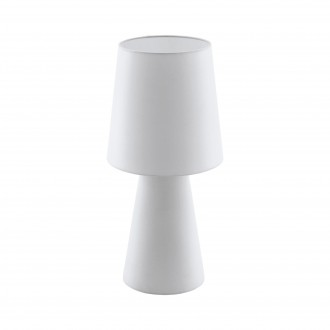 EGLO 97131 | Carpara Eglo asztali lámpa 47cm vezeték kapcsoló 2x E27 fehér