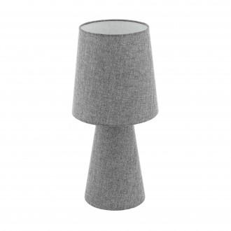 EGLO 97132 | Carpara Eglo asztali lámpa 47cm vezeték kapcsoló 2x E27 szürke