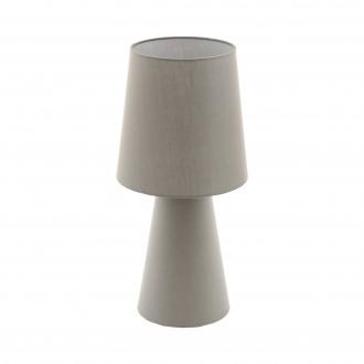 EGLO 97134 | Carpara Eglo asztali lámpa 47cm vezeték kapcsoló 2x E27 taupe