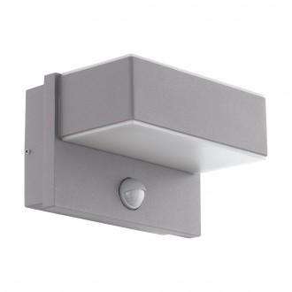 EGLO 97159 | Azzinano Eglo fali lámpa mozgásérzékelő 2x LED 1200lm 3000K IP44 ezüst, fehér