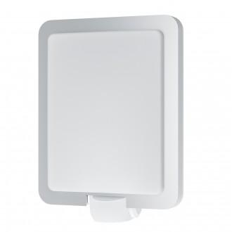 EGLO 97218 | Mussotto Eglo fali lámpa mozgásérzékelő 1x E27 IP44 nemesacél, rozsdamentes acél, fehér