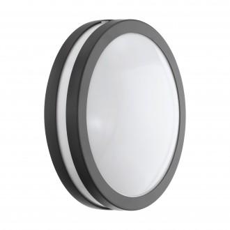 EGLO 97237 | EGLO-Connect-Locana Eglo fali, mennyezeti okos világítás kerek szabályozható fényerő 1x LED 1400lm 3000K IP44 antracit, fehér