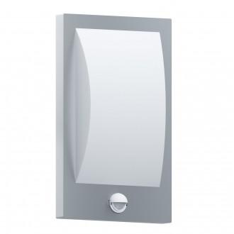 EGLO 97238 | Verres Eglo fali lámpa mozgásérzékelő 1x E27 IP44 nemesacél, rozsdamentes acél, fehér