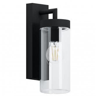EGLO 97261 | Bovolone Eglo falikar lámpa 1x E27 IP44 fekete, áttetsző