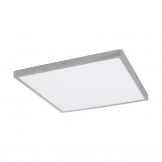 EGLO 97278 | Fueva-1 Eglo mennyezeti LED panel négyzet szabályozható fényerő 1x LED 2900lm 4000K ezüst, fehér