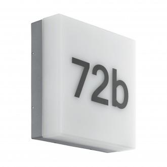 EGLO 97289 | Cornale Eglo fali lámpa fényérzékelő szenzor - alkonykapcsoló 1x LED 820lm 3000K IP44 antracit, fehér
