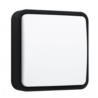 EGLO 97295 | EGLO-Connect-Piove Eglo fali, mennyezeti okos világítás négyzet szabályozható fényerő 1x LED 1400lm 3000K IP44 fekete, fehér