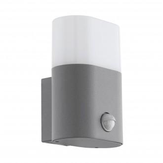 EGLO 97315 | Favria Eglo fali lámpa mozgásérzékelő 1x LED 1200lm 3000K IP44 ezüst, fehér
