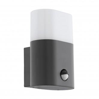EGLO 97316 | Favria Eglo fali lámpa mozgásérzékelő 1x LED 1200lm 3000K IP44 antracit, fehér