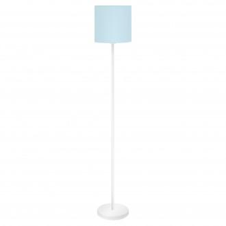 EGLO 97391 | Eglo-Pasteri-Pastel-LB Eglo álló lámpa 157,5cm taposókapcsoló 1x E27 pasztell kék, fehér